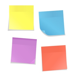 Multicolored stickers for note isolated on white vector
