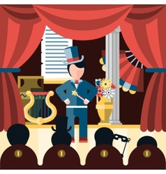 Theatre play concept vector