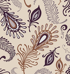 Various feather pattern vector