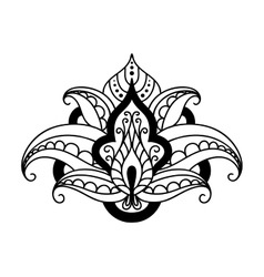 Persian floral design element vector