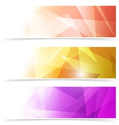 Modern triangular web banner collection vector