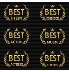 Best film award vector