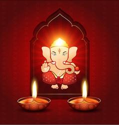 Indian god ganesh vector
