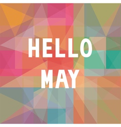 Hello may card1 vector