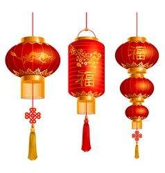 China lanterns vector