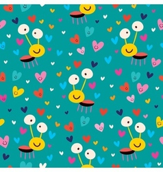 Love bug seamless pattern vector