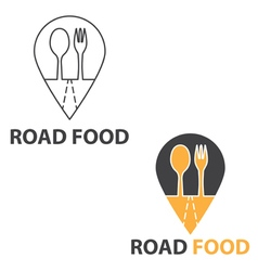 Concept of road food vector