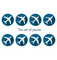 Airplane icon with long shadow vector