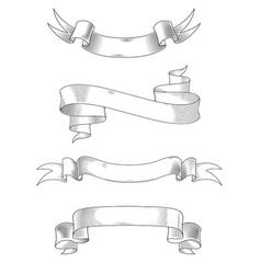 Heraldry ribbons vector