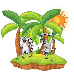 Cartoon lemur island vector