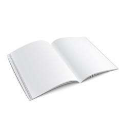 Blank opened magazine template with soft shadows vector