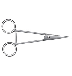 First aid scissors vector