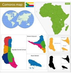 Comoros map vector