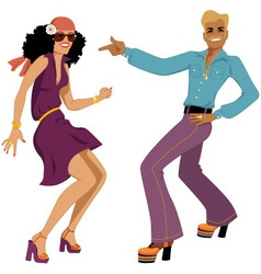 Disco dancers vector