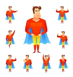 Superhero avatar set vector
