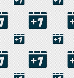 Plus one add one icon sign seamless pattern with vector
