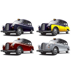 Vintage london taxi cab vector