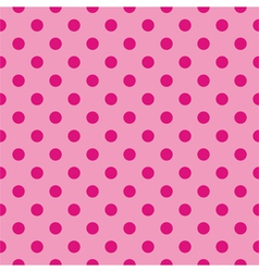 Tile pink background with polka dots vector