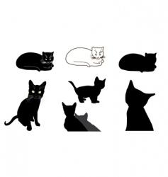 Cat design elements vector