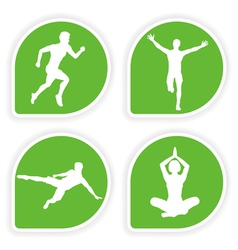 Yoga tags vector