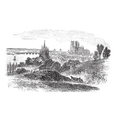 Orleans france vintage engraving vector