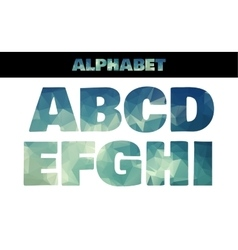 Polygon insulated colorful alphabet font style vector