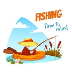 Fisherman in the boat vector