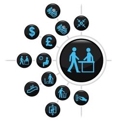 Office finance button set vector