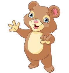 Teddy bear presenting vector