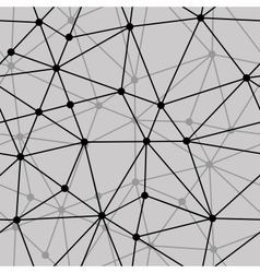 Abstract black and white net seamless background vector