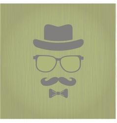 Hipsters hat glasses moustache vector