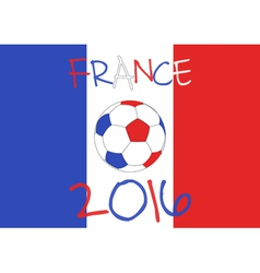 France 2016 football poster country symbol vector