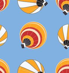 Seamless pattern of hot air balloons vector