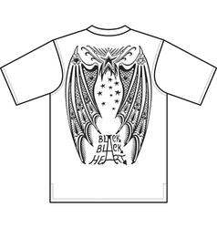 Devil wings t-shirt design vector