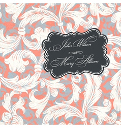 Vintage styled wedding invitation vector