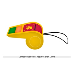 A whistle of sri lanka vector