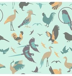 Birds seamless pattern flat style vector