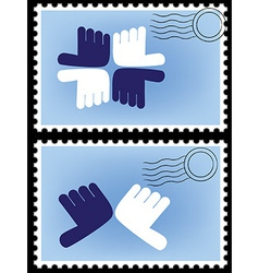 Stamp postage vector