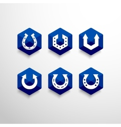 Abstract horseshoe logo design template vector