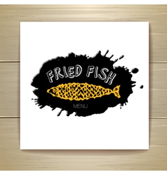 Fried fish restaurant menu concept design vector