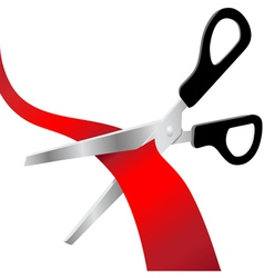 Grand opening scissors cut vector