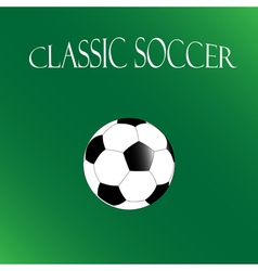 Classic soccer background football poster vector