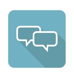 Square chat icon vector