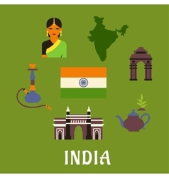 India culture and travel concept vector