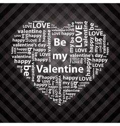 Heart made of valentine greetings vector