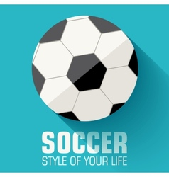 Flat sport soccer background concept design vector