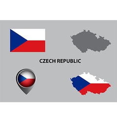 Map of czech republic and symbol vector