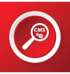 Cms search icon on red vector