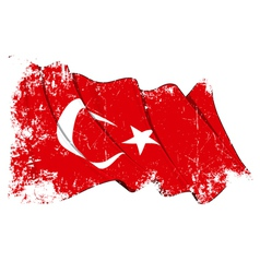 Turkye flag grunge vector
