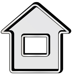 Gray isolated home icon vector